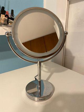 Espejo de tocador con iluminacion