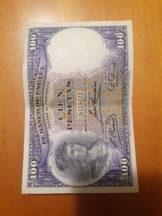 billete 100 pesetas año 1931