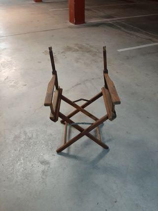 Silla de director plegable de madera