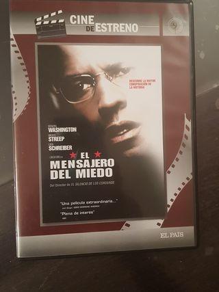 Peliculas dvd el mensajero del miedo