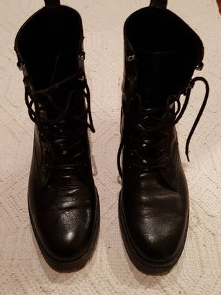 botas mujer piel negras talla 37 massimo dutti