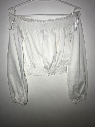 Blusa corta manga larga