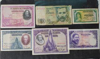 Lote Billetes Peseta