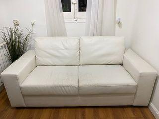Sofa blanco de Ikea
