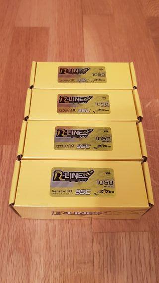 Vendo 4 Lipos nuevas 6s 1050 mAh Tatuu R-Line 95C