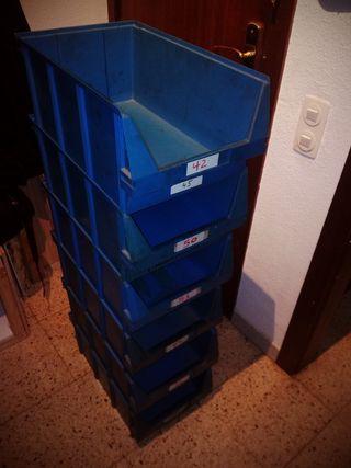 10 Gavetas Apilables Plastico 46x29x20