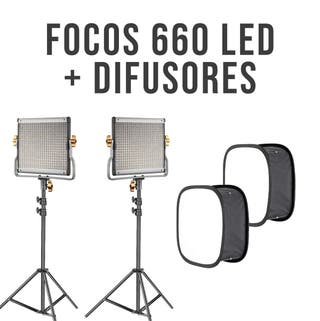 Focos Neewer 660 LED + Difusores