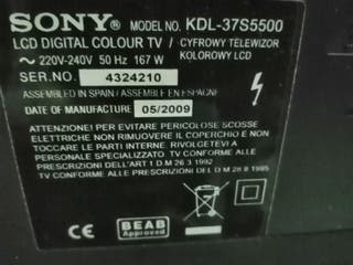 Televisor Sony con dvd 5 altavoces y un subwoofer