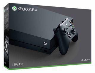 Xbox One X en buen estado, con caja,mando,etc