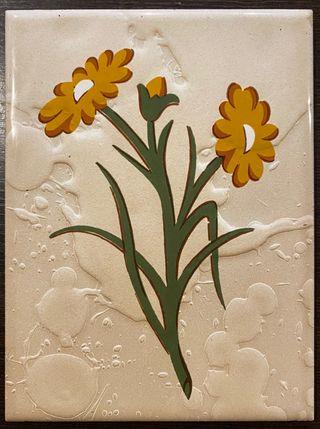 Azulejo de flores de la marca cedolesa