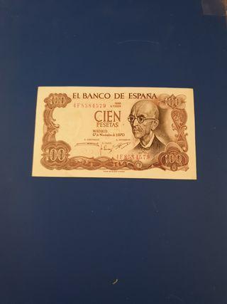 Billete 100 pesetas sin circular