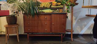 Mueble Vintage Cajonera Años 60 Madera