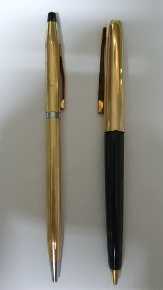 Bolígrafos Cross y Pelikan Gold