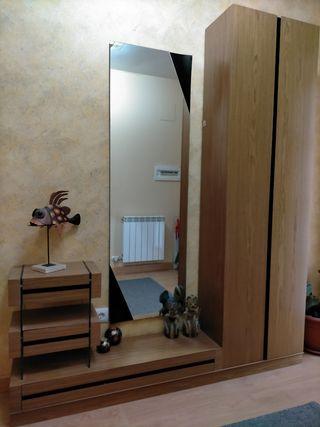 Mueble recibidor con armario
