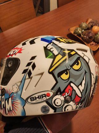Casco moto jet infantil Shiro comics