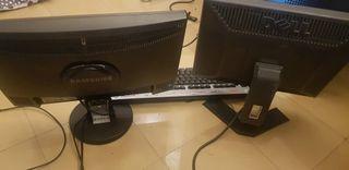 pantalla de ordenador y teclado.