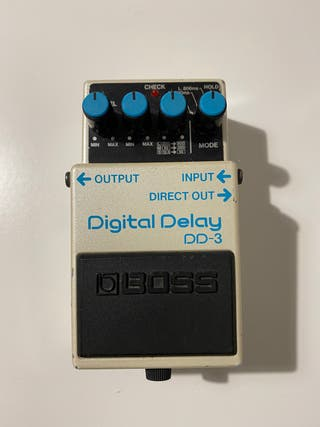 Boss DD3 del 92 (blue label) pedal delay guitarra