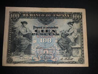 Billete 100 pesetas 1906