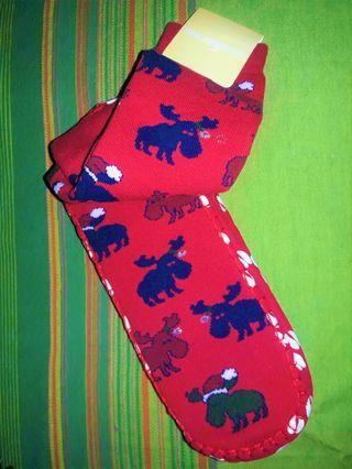 Calcetines-Zapatillas renos