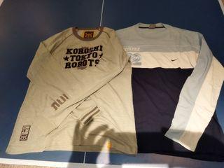2 camisetas manga larga NIKE cortez