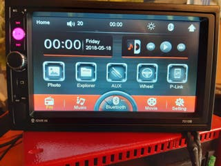 "Radio coche 2 Din 7"" LCD táctil BLUETOOTH, MP5,USB"