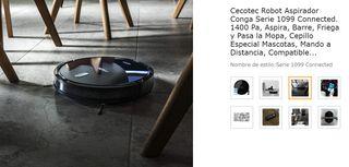 Robot Aspirador Cecotec 1099 Compatible con Alexa
