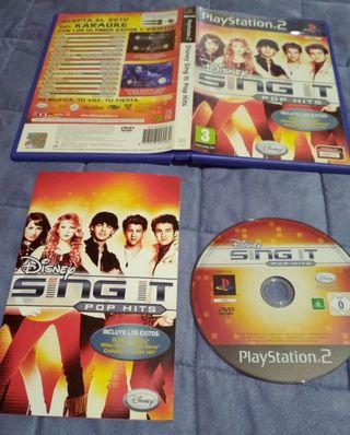 juego PlayStation2 Disney sing it pop hits