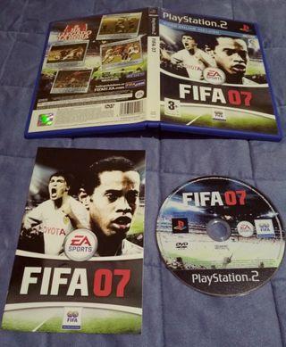 juego PlayStation2 fifa07