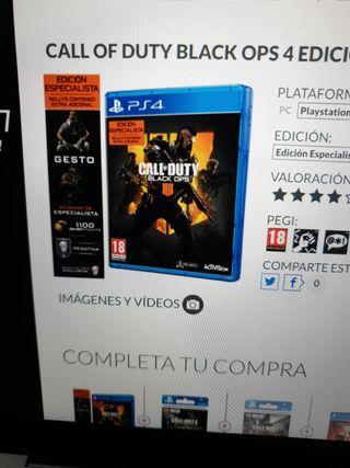 BLACK OPS 4 LIMITED EDITION PS4 Y PS5 PRECINTADO!!