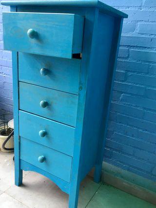 Cajonera madera 100 x 34 cm color azul