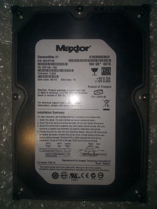 Disco duro maxtor 500GB