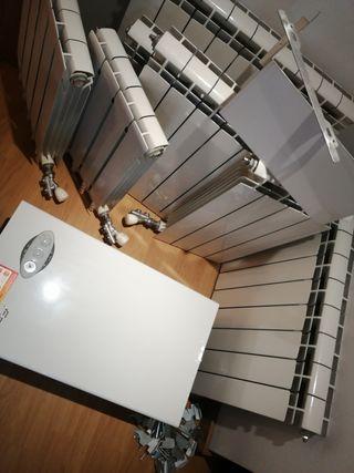 Caldera calefacción gas natural + 7 radiadores