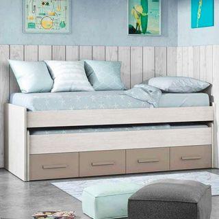 Cama Nido Juvenil, 2 camas con cajones