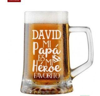 jarra de cerveza personalizada dia del padre