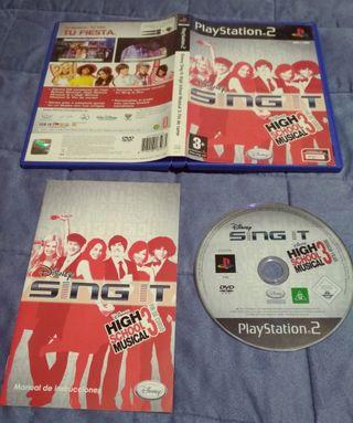 juego PlayStation2 Disney sing it high school3