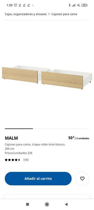 cajones para cama Ikea