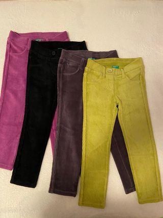 (4) Pantalones de Felpa súper skinny