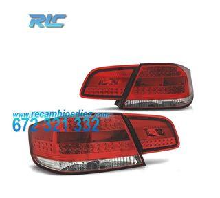 PILOTOS BMW SERIE 3 E92 06-10 LED ROJO/CROMO