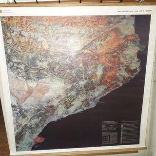 Mapa de Catalunya d'imatge Satèl·lit.
