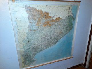 Mapa topogràfic de Catalunya.
