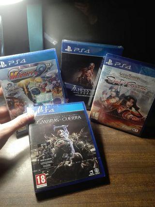 Juegos PRECINTADOS para PS4
