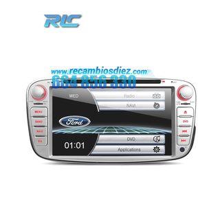 "RADIO NAVEGADOR 7"" FORD REDONDA COLOR GRIS USB GPS"