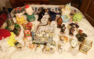 lote de figuritas animales y varios