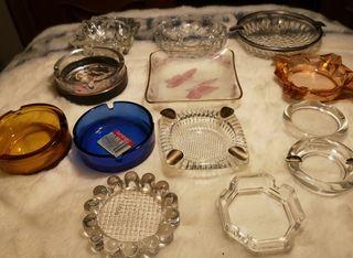 ceniceros de cristal vitage