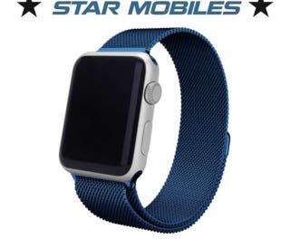 ** CORREA APPLE WATCH MILANESA AZUL