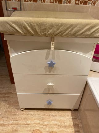 Bañera cambiador mueble