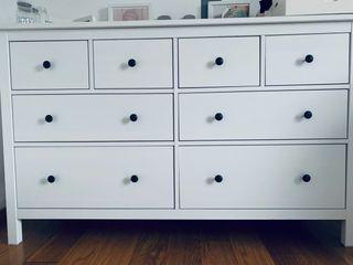Cómoda Hemnes Ikea 8 cajones blanco