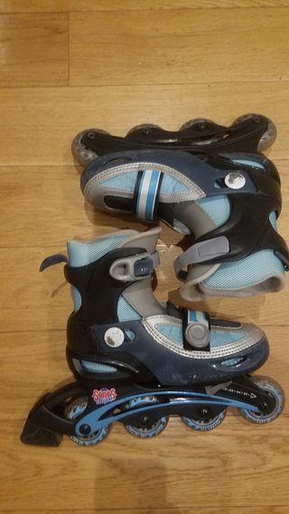 patines línea extensibles tallas 31 a 35