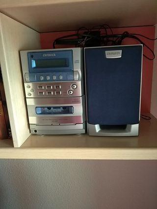 Minicadena reproductor radio CD y cinta cassette