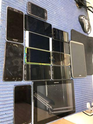 Lote móviles ROTOS para test de reparación